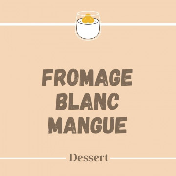 Fromage blanc mangue